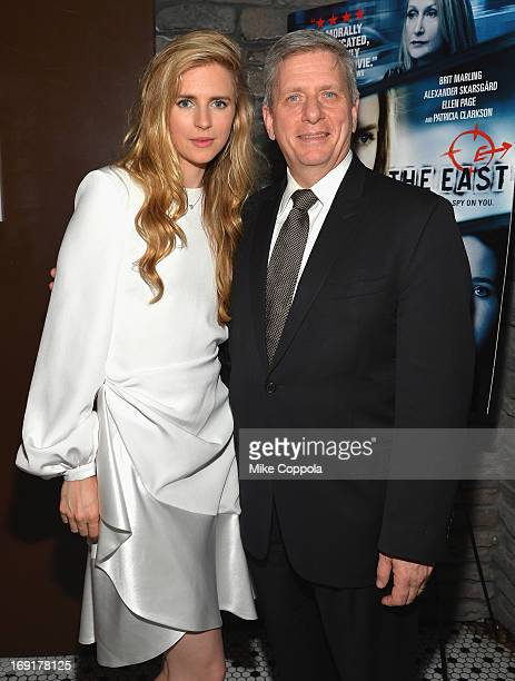 Actress and Writer Brit Marling and President of Piaget North America Larry Boland attend the after party of the New York Premiere of The East at...