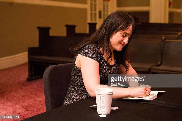Actress and writer Mara Wilson signs copies of her new book at Town Hall Seattle on September 21, 2016 in Seattle, Washington.
