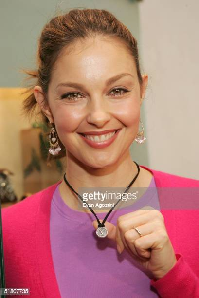 Actress and YouthAIDS Global Ambassador ,Ashley Judd, visits the David Yurman flagship store to see the special edition pin and pendant benefitting...