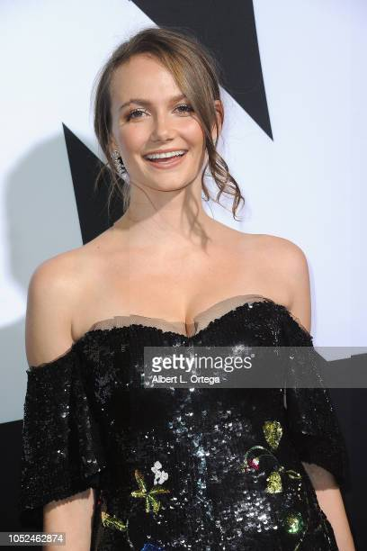 Actress Andi Matichak arrives for the Universal Pictures' 'Halloween' Premiere held at TCL Chinese Theatre on October 17 2018 in Hollywood California