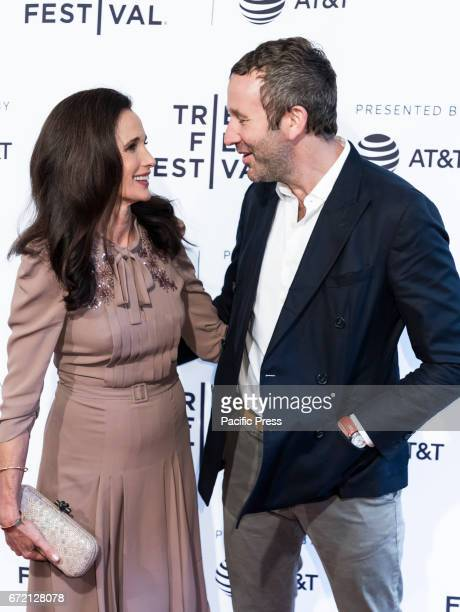 Actress Andie MacDowell and Actor Chris O'Dowd attend US Narrative CompetitionLove After Love Premiere during the 2017 Tribeca Film Festival at SVA...