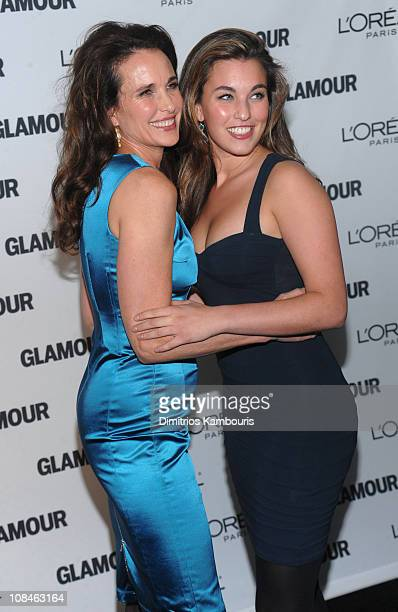Actress Andie MacDowell and daughter Rainey Qualley attend the The 2009 Women of the Year hosted by Glamour Magazine at Carnegie Hall on November 9...