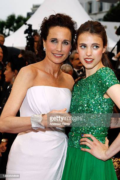 Actress Andie MacDowell and daughter Sarah Margaret Qualley attend the Closing Ceremony and the 'Therese Desqueyroux' Premiere during the 65th Annual...