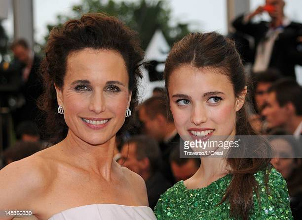 Actress Andie MacDowell and daughter Sarah Margaret Qualley attend the Closing Ceremony and 'Therese Desqueyroux' premiere during the 65th Annual...
