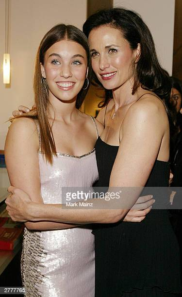 Actress Andie MacDowell and her daughter Rainey Qualley attend the 'L'Oreal and Ovarian Cancer Research Fund Photographic Exhibition Gala Opening' at...