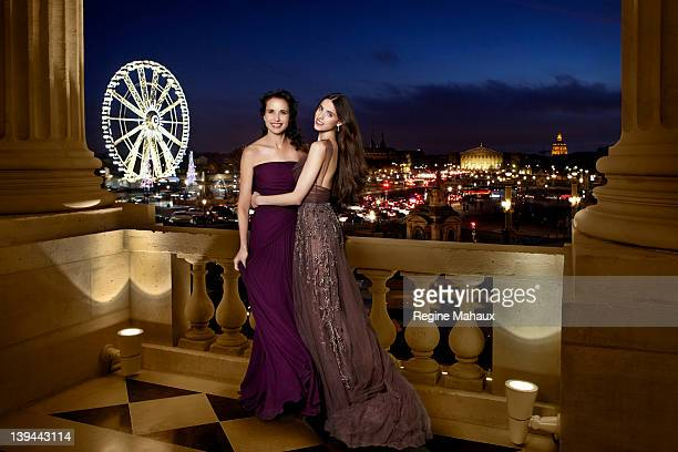 Actress Andie MacDowell and her daughter Sarah Margaret are photographed for You Magazine on November 26 2011 for the comingout ball at Hotel Crillon...