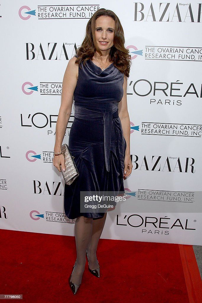 Actress Andie MacDowell arrives at 'A Night Of Hope' presented by L'Oreal Paris in celebration with Harper's Bazaar to benefit The Ovarian Cancer Research Fund at Murano on November 7, 2007 in Los Angeles, California.