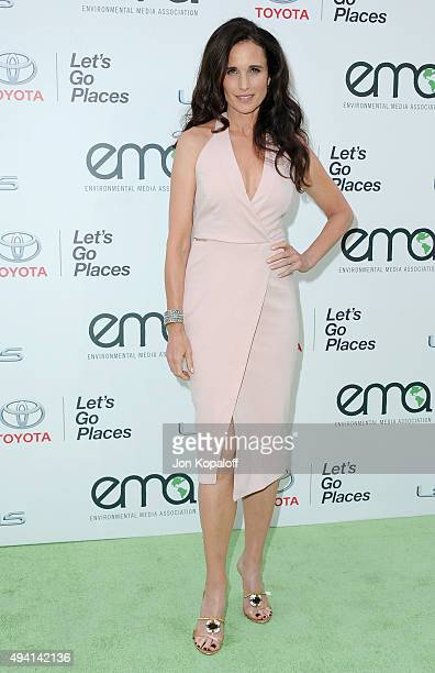Actress Andie MacDowell arrives at Environmental Media Association Hosts Its 25th Annual EMA Awards Presented By Toyota And Lexus at Warner Bros...