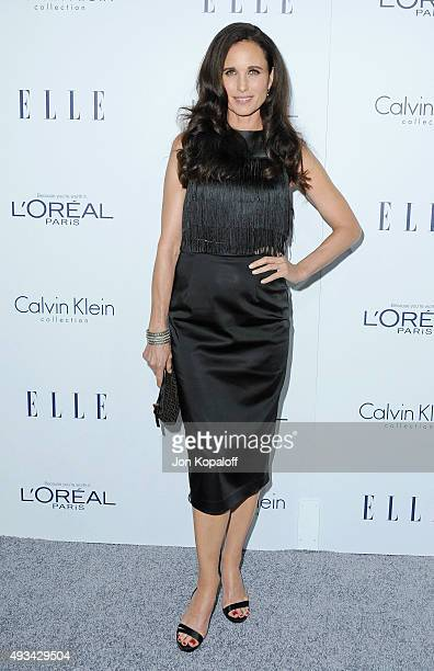 Actress Andie MacDowell arrives at the 22nd Annual ELLE Women In Hollywood Awards at Four Seasons Hotel Los Angeles at Beverly Hills on October 19...