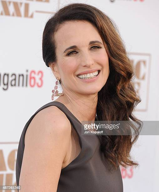 Actress Andie MacDowell arrives at the Los Angeles Premiere 'Magic Mike XXL' at TCL Chinese Theatre IMAX on June 25 2015 in Hollywood California