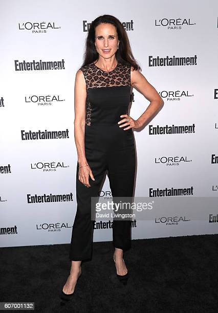 Actress Andie MacDowell attends Entertainment Weekly's 2016 Pre-Emmy Party at Nightingale Plaza on September 16, 2016 in Los Angeles, California.
