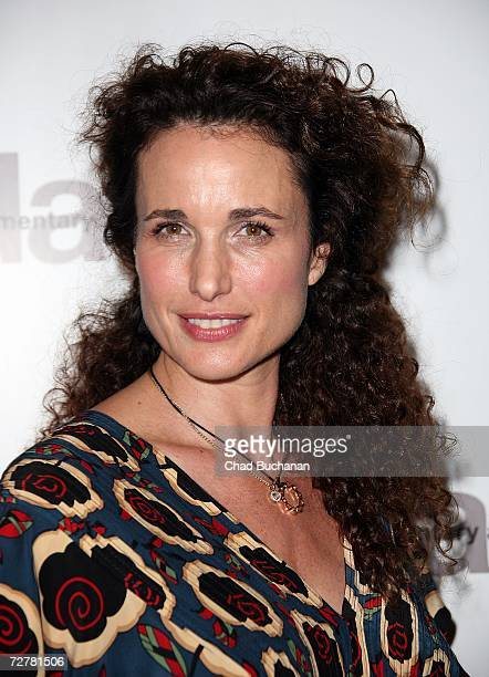 Actress Andie MacDowell attends the 2006 International Documentary Association Achievement Awards gala at the Directors Guild of America on December...