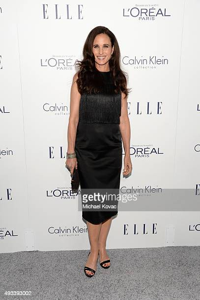 Actress Andie MacDowell attends the 22nd Annual ELLE Women in Hollywood Awards at Four Seasons Hotel Los Angeles at Beverly Hills on October 19 2015...