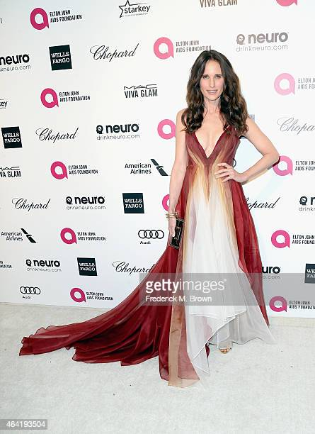 Actress Andie MacDowell attends the 23rd Annual Elton John AIDS Foundation's Oscar Viewing Party on February 22 2015 in West Hollywood California