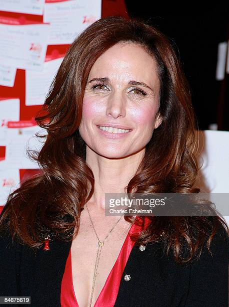 Actress Andie MacDowell attends the 2nd annual Go Red For Women's nationwide casting call event at Grand Central Terminal on February 6 2009 in New...