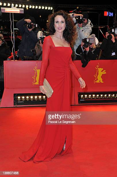 """Actress Andie MacDowell attends the """"Captive"""" Premiere during day four of the 62nd Berlin International Film Festival at the Berlinale Palast on..."""