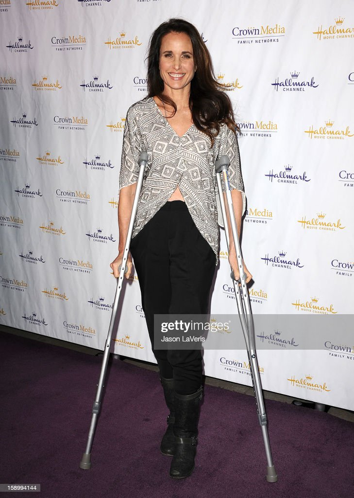 Actress Andie MacDowell attends the Hallmark Channel 2013 winter press gala at Huntington Library on January 4, 2013 in Pasadena, California.