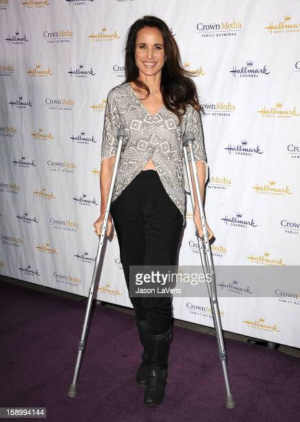Actress Andie MacDowell attends the Hallmark Channel 2013 winter press gala at Huntington Library on January 4 2013 in Pasadena California
