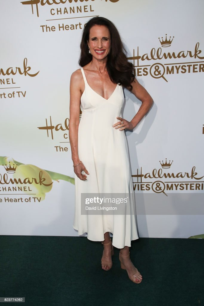 Actress Andie MacDowell attends the Hallmark Channel and Hallmark Movies and Mysteries 2017 Summer TCA Tour on July 27, 2017 in Beverly Hills, California.