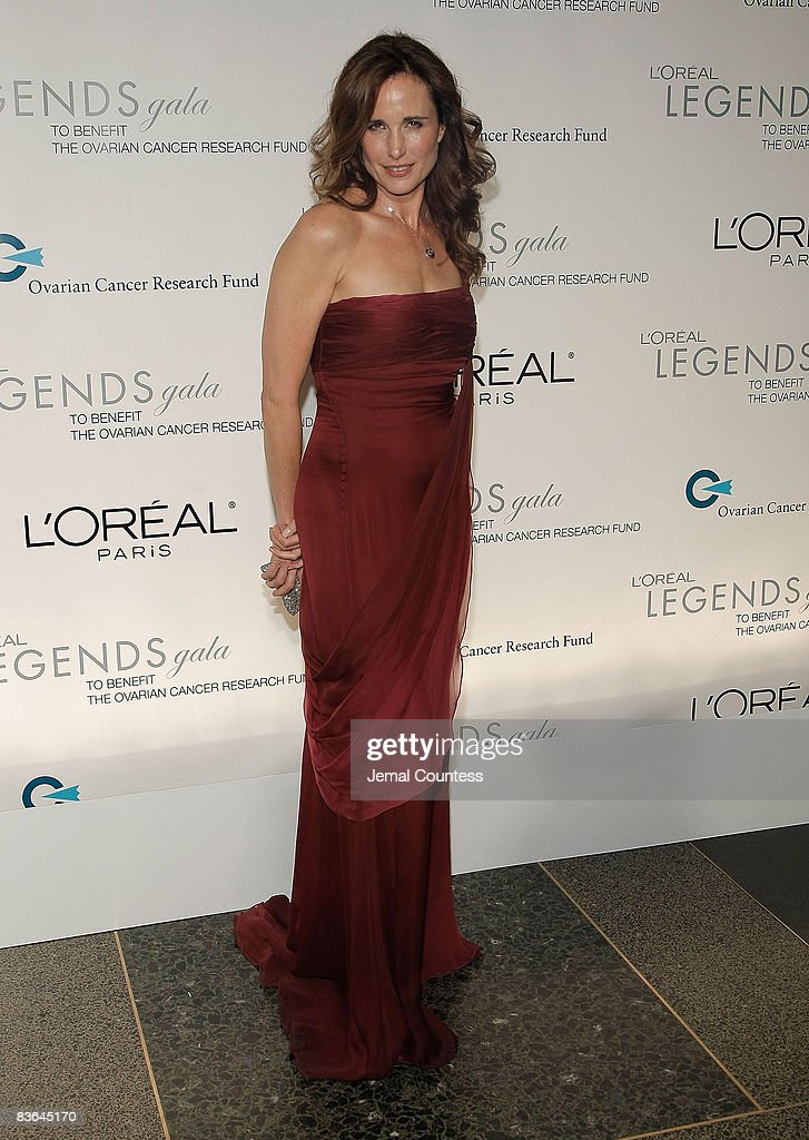 Actress Andie MacDowell attends the L'Oreal Legends Gala to Benefit The Ovarian Cancer Research Fund at American Museum of Natural History on November 10, 2008 in New York City.