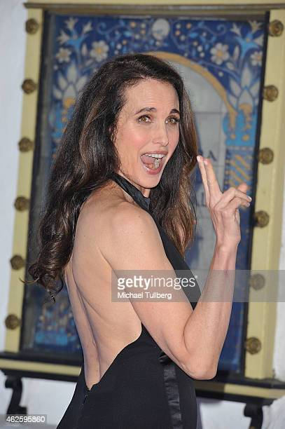 Actress Andie MacDowell attends the Modern Master presentation ceremony at the 30th Santa Barbara International Film Festival at Arlington Theatre on...