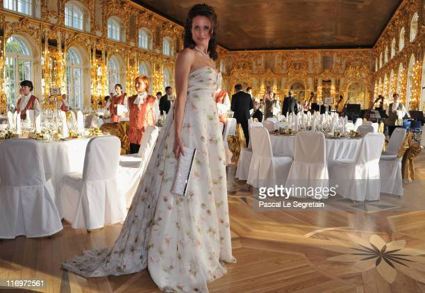 Actress Andie MacDowell attends the Montblanc New Voices Award 2011 - Montblanc at Mariinsky Ball at Catherine Palace on June 18, 2011 in Pushkin,...