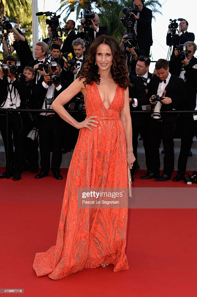 Actress Andie MacDowell attends the Premiere of 'Inside Out' during the 68th annual Cannes Film Festival on May 18, 2015 in Cannes, France.