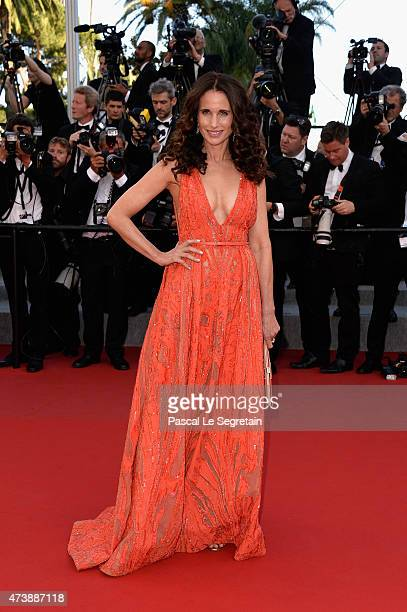 Actress Andie MacDowell attends the Premiere of 'Inside Out' during the 68th annual Cannes Film Festival on May 18 2015 in Cannes France
