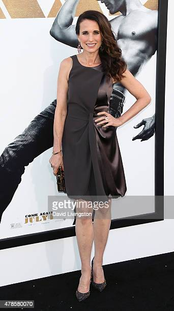 Actress Andie MacDowell attends the premiere of Warner Bros Pictures' 'Magic Mike XXL' at the TCL Chinese Theatre IMAX on June 25 2015 in Hollywood...