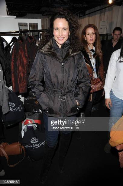 Actress Andie MacDowell attends The Samsung Galaxy Tab Lift on January 23 2011 in Park City Utah