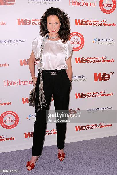 Actress Andie MacDowell attends the WE tv and Ladies' Home Journal's WE Do Good Awards at Espace on November 16 2010 in New York City As part of WE...