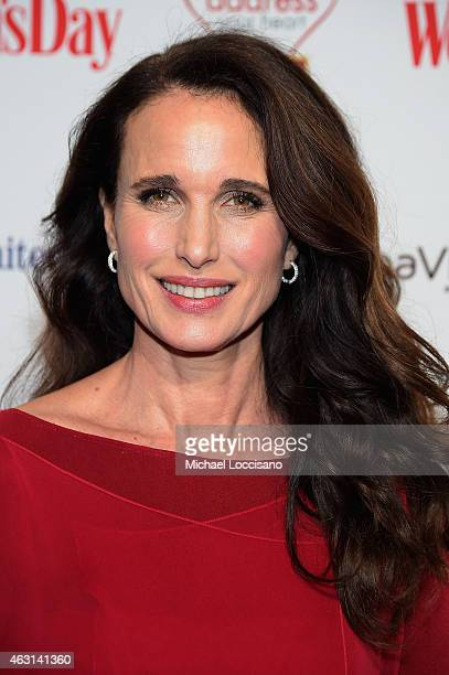 Actress Andie MacDowell attends the Woman's Day Red Dress Awards on February 10 2015 in New York City