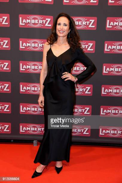 US actress Andie MacDowell during the Lambertz Monday Night 2018 at Alter Wartesaal on January 29 2018 in Cologne Germany