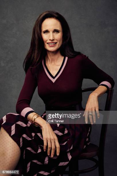 Actress Andie MacDowell from 'Love After Love' poses at the 2017 Tribeca Film Festival portrait studio on April 22 2017 in New York City