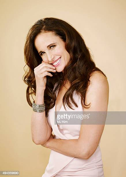 Actress Andie MacDowell is photographed at the 25th Annual EMA Awards Presented By Toyota And Lexus at Warner Bros Studios on October 24 2015 in Los...