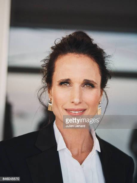 Actress Andie MacDowell is photographed for Self Assignment on May 21 2017 in Cannes France