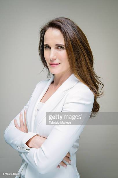 Actress Andie MacDowell is photographed for The Hollywood Reporter on May 15 2015 in Cannes France