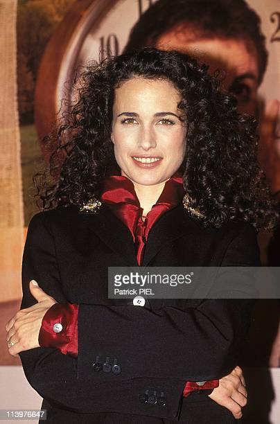 Actress Andie MacDowell presents film Groundhog day In Hamburg Germany On April 28 1993