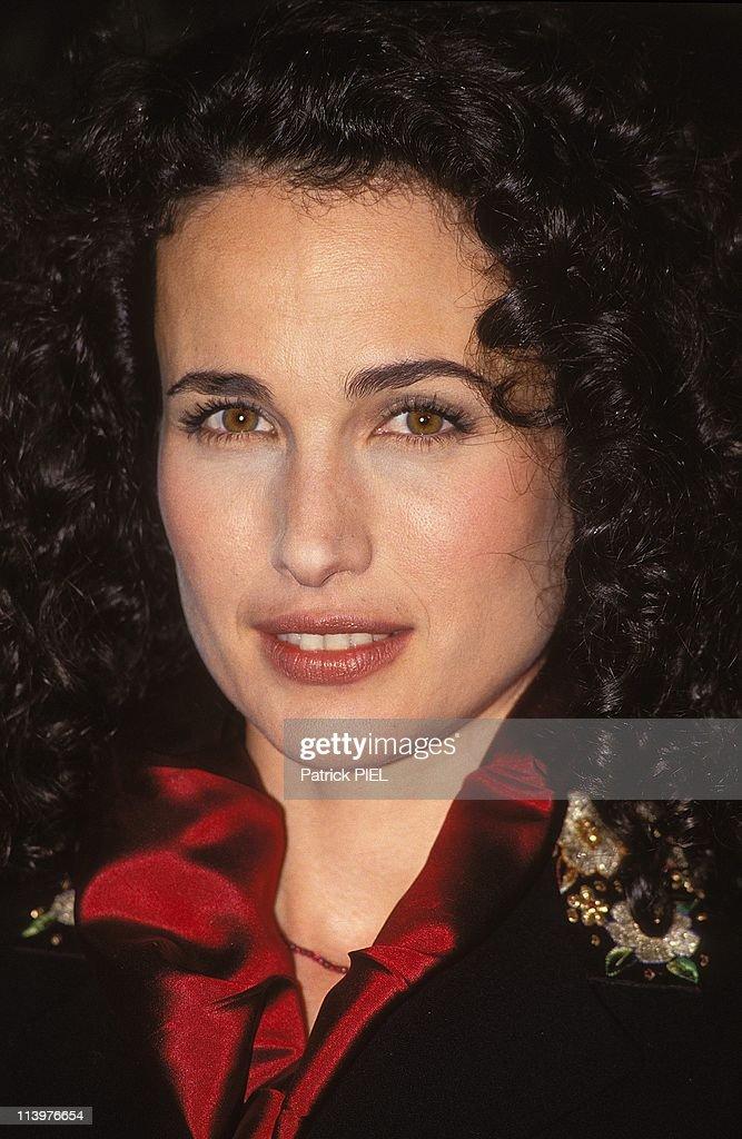 "Actress Andie MacDowell presents film ""Groundhog day"" In Hamburg, Germany On April 28, 1993- : Foto jornalística"