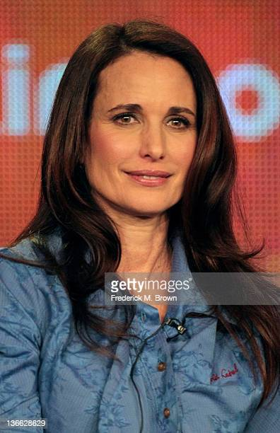 Actress Andie MacDowell speaks onstage during the 'Jane By Design' panel during the Disney/ABC Television Group portion of the 2012 Winter TCA Tour...