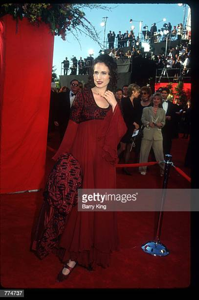 Actress Andie MacDowell stands at the sixtyseventh Academy Awards March 27 1995 in Los Angeles CA After nearly threequarters of a century of...