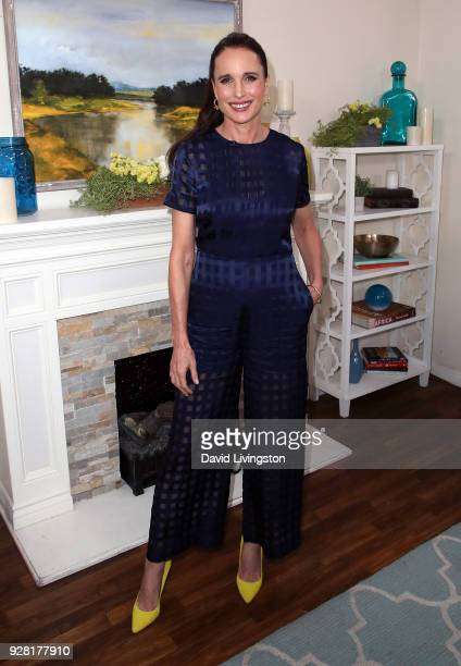 Actress Andie MacDowell visits Hallmark's 'Home Family' at Universal Studios Hollywood on March 6 2018 in Universal City California