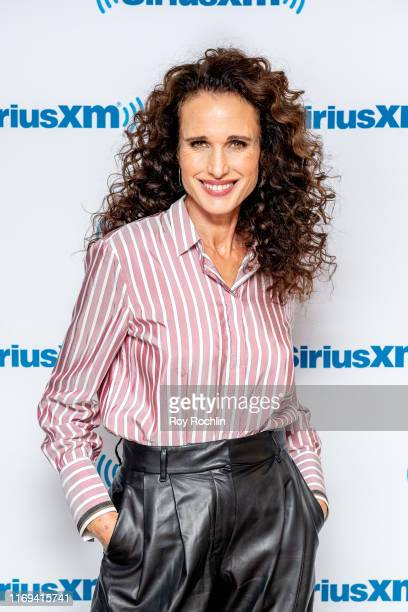 Actress Andie MacDowell visits SiriusXM Studios on August 21 2019 in New York City
