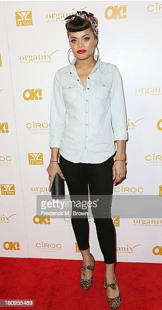 Actress Andra Day attends the OK! Magazine Pre-GRAMMY Party at the Sound Nightclub on February 7, 2013 in Hollywood, California.