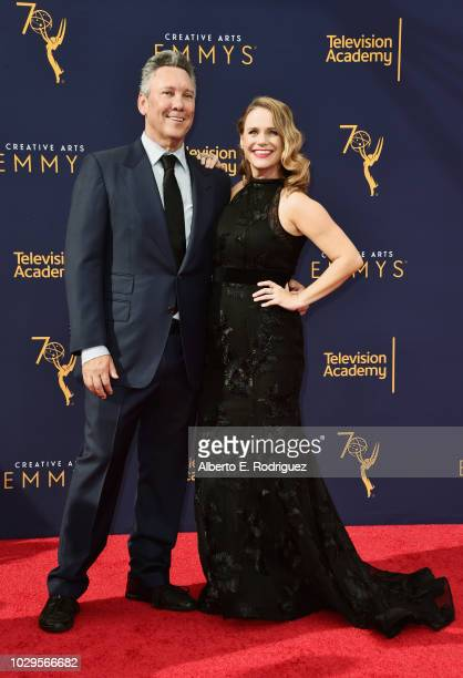 Actress Andrea Barber and Guest attend the 2018 Creative Arts Emmy Awards at Microsoft Theater on September 8 2018 in Los Angeles California