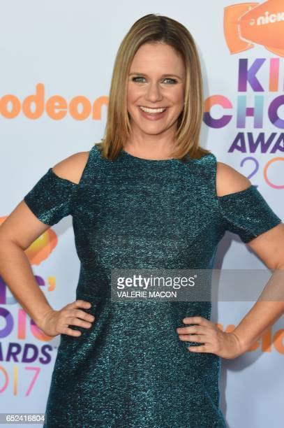 Actress Andrea Barber arrives for the 30th Annual Nickelodeon Kids' Choice Awards March 11 at the Galen Center on the University of Southern...