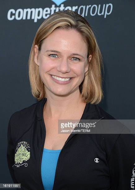 Actress Andrea Barber attends the Kaiser Permanente Rock 'n' Roll Half Marathon and Mini Marathon to benefit CureMitoat the Rose Bowl on February 17...