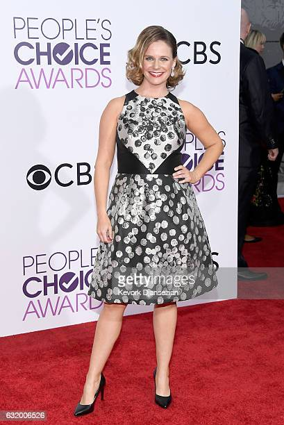 Actress Andrea Barber attends the People's Choice Awards 2017 at Microsoft Theater on January 18 2017 in Los Angeles California