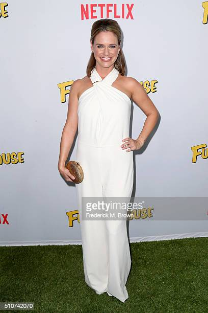 Actress Andrea Barber attends the premiere of Netflix's 'Fuller House' at Pacific Theatres at The Grove on February 16 2016 in Los Angeles California