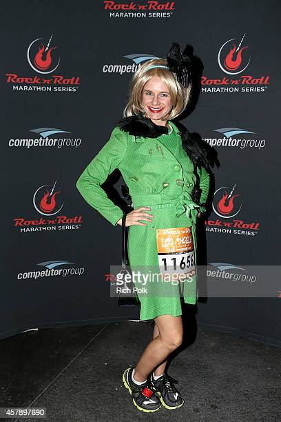 Actress Andrea Barber participates in the Rock 'n' Roll Los Angeles Halloween HalfMarathon and 5K benefitting the ASPCA on October 26 2014 in Los...